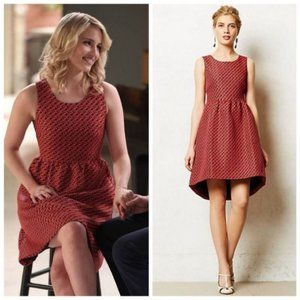 Anthropologie LILI WANG Geojacquard Dress sz 4